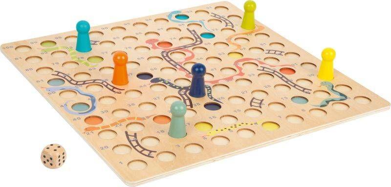 Drewniana gra planszowa Węże i drabiny XL 11785-Small Foot, gry