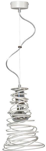 Emibig TWIST 1 WHITE 295/1 lampa wisząca zakręcona metalowa modern design biała 1x60W E27 16cm