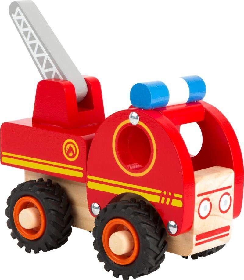 Drewniany samochód straż pożarna z drabiną 11075-Small Foot, little cars