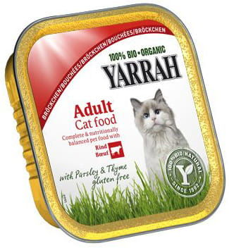 Dla kota kawałki kurczaka z wołowiną eko 100 g - yarrah