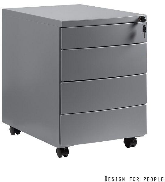 Kontener biurowy RP-04 srebrny Unique