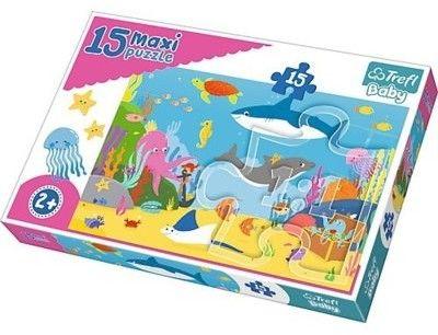 Puzzle dla dzieci Trefl 15 MAXI - Podwodny Świat, Underwater world