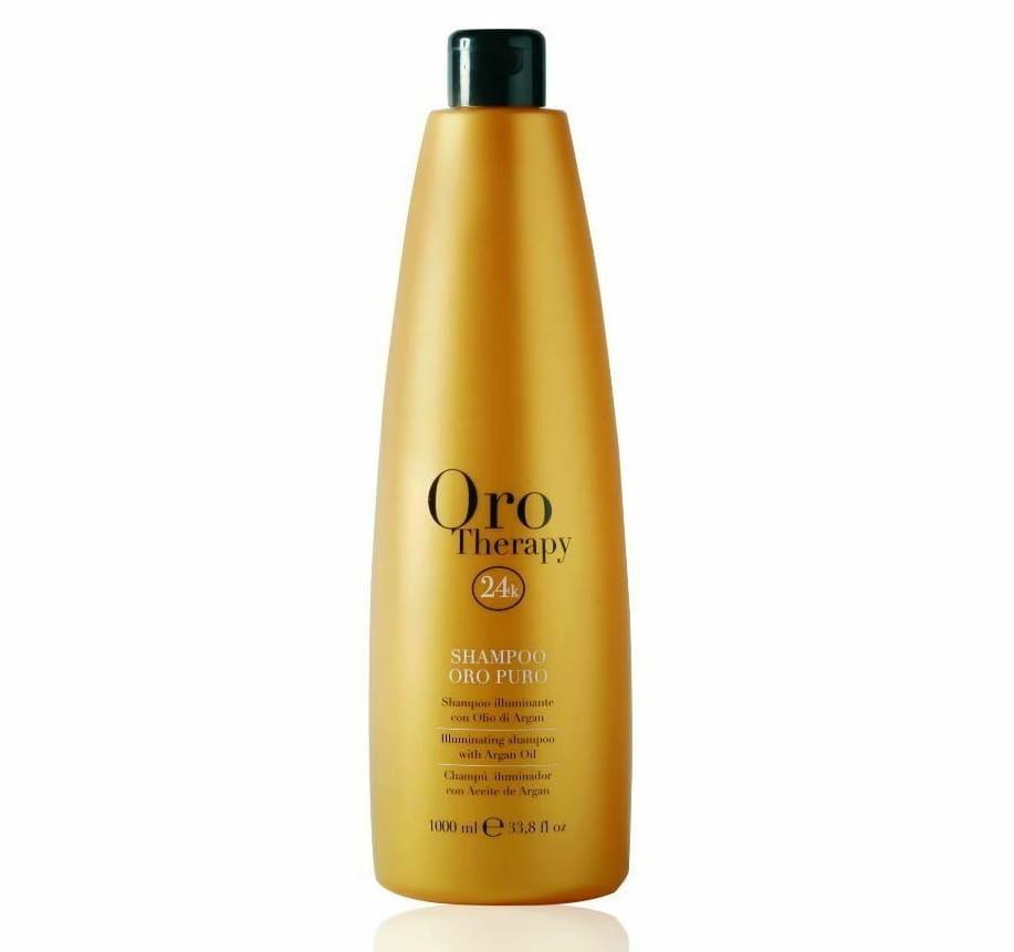 Fanola Oro Therapy Puro szampon wzmacnia rozświetla włosy 1000ml