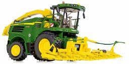 WIKING 077832 John Deere 8500i, model, 1:32, metal/tworzywo sztuczne, od 14 lat, wiele funkcji, jednostka Pick-Up i przystawka do kukurydzy, w pełni funkcjonalna, regulowana rura wyrzutowa