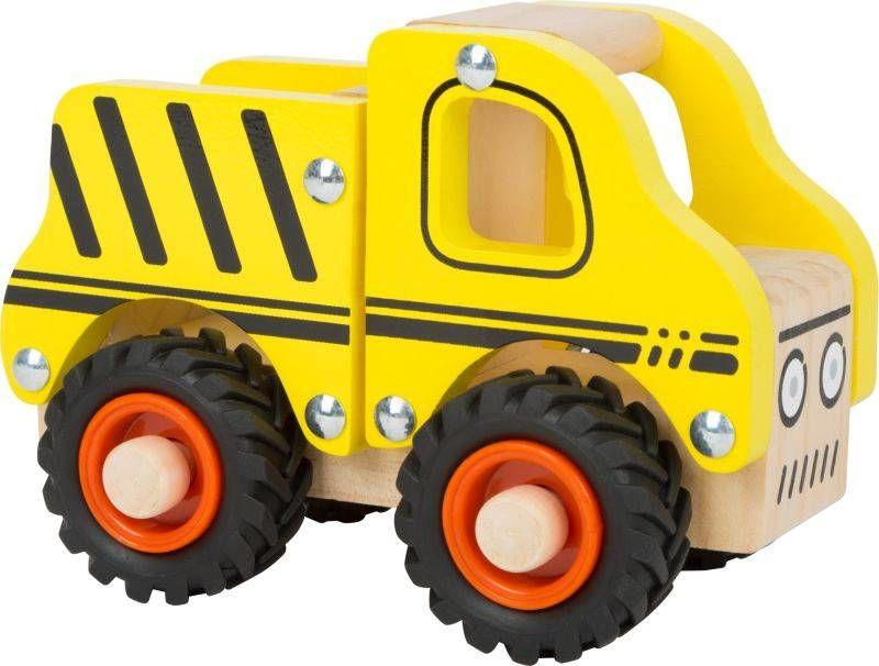 Drewniany żółty samochód ciężarowy 11096-Small Foot, little cars