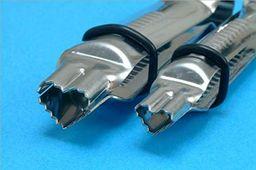 PME Ząbkowane zaciski w kształcie serca, duże i małe rozmiary, zestaw 2 szt.