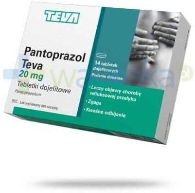 Pantoprazol Teva 14 tabletek
