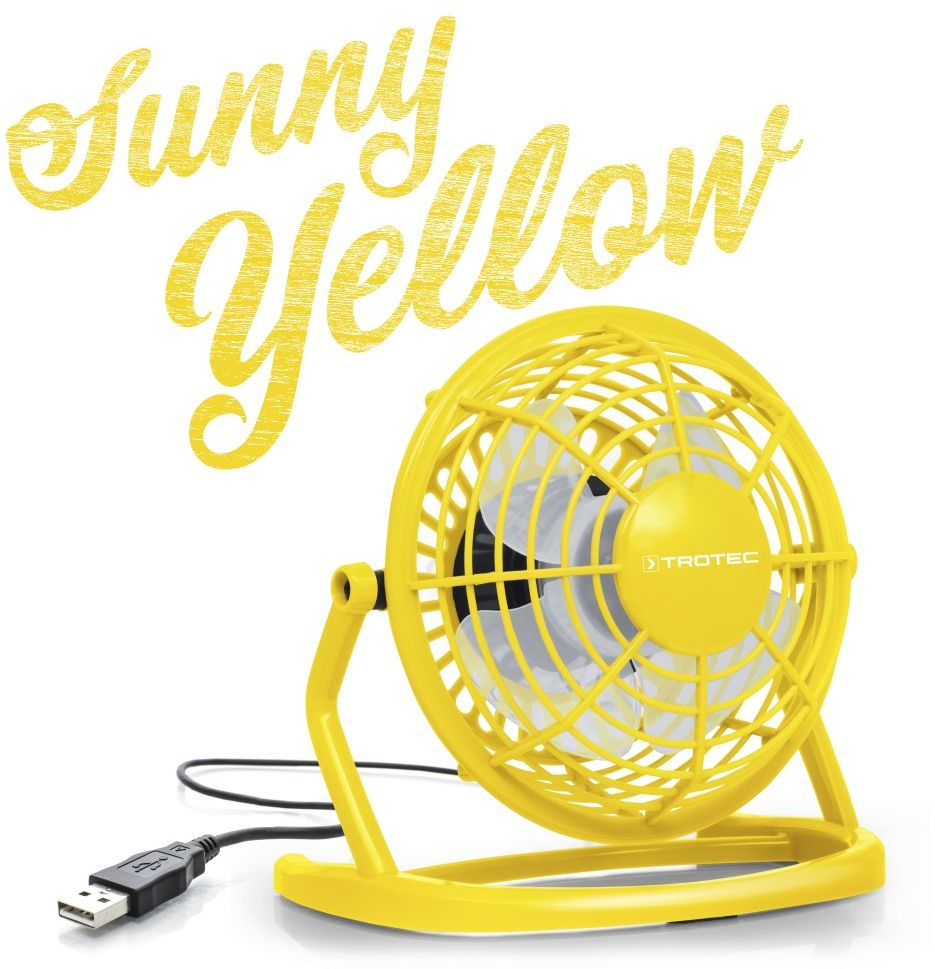 Wentylator USB Sunny Yellow TVE 1Y