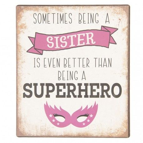 Metalowa Tabliczka Dla Siostry A