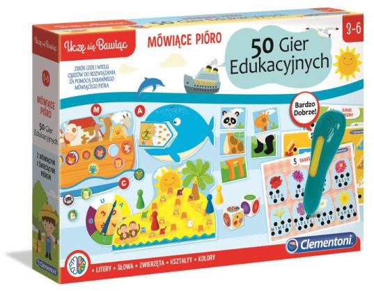 Mówiące Pióro 50 gier edukacyjnych ZAKŁADKA DO KSIĄŻEK GRATIS DO KAŻDEGO ZAMÓWIENIA