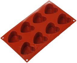 Silikomart silikonowa patelnia do muffinek w kształcie serca, 8 filiżanek