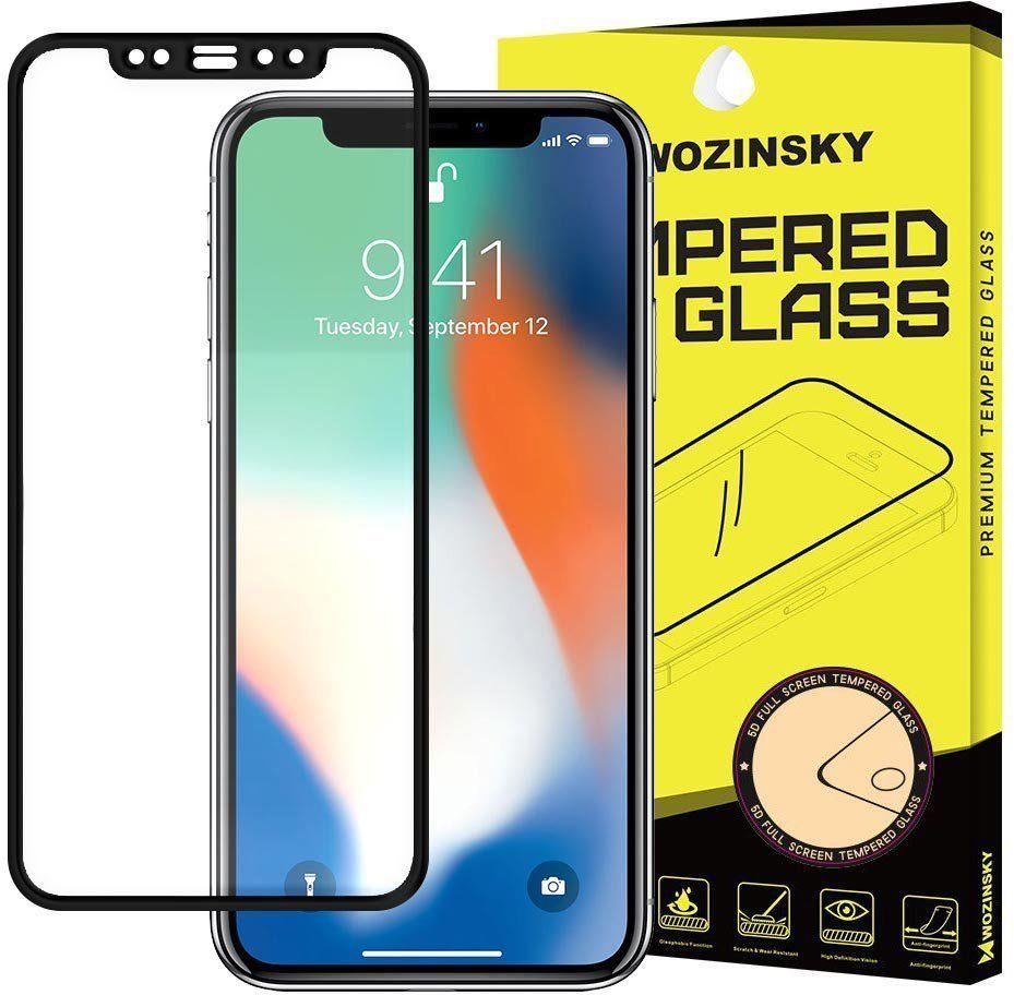 Wozinsky super wytrzymałe szkło hartowane Full Glue na cały ekran z ramką Case Friendly iPhone 12 mini czarny