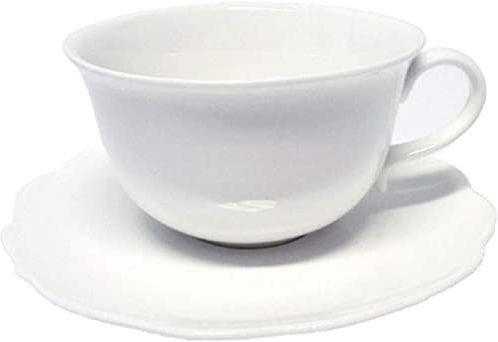 Ambition 61162 serwis do kawy Grace 17-częściowy biały filiżanki zestaw filiżanek zestaw naczyń do kawy porcelana nowoczesny elegancki