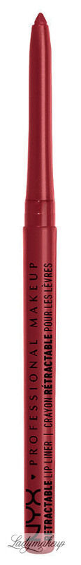 NYX Professional Makeup - RETRACTABLE LIP LINER - Wodoodporna konturówka do ust - 11 - RED
