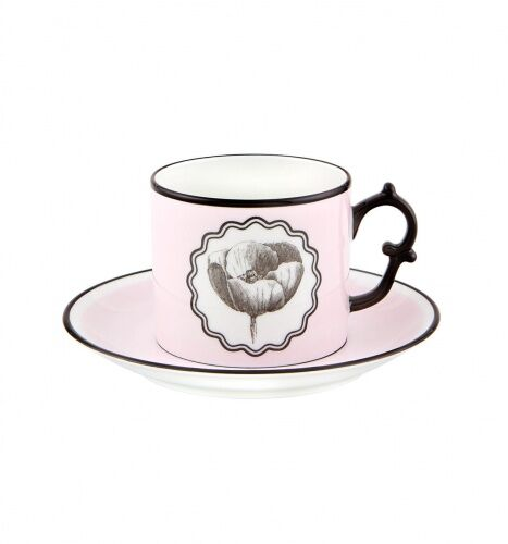 Różowa filiżanka do herbaty Herbariae Vista Alegre