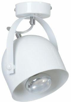 Emibig DOBSON 1 SPOT WHITE 775/1 plafon lampa sufitowa nowoczesna biała ruchomy klosz 1x60W E27 19cm