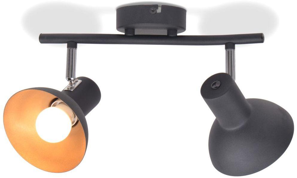 Czarno-złota lampa sufitowa z regulacją kloszy - EX117-Livan
