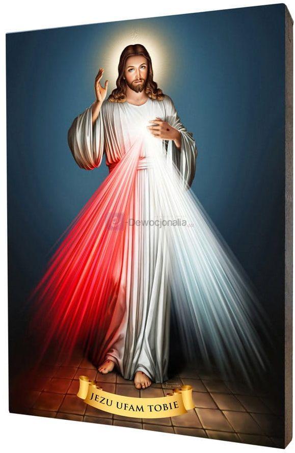Obraz na desce lipowej - Jezu Ufam Tobie 15x20