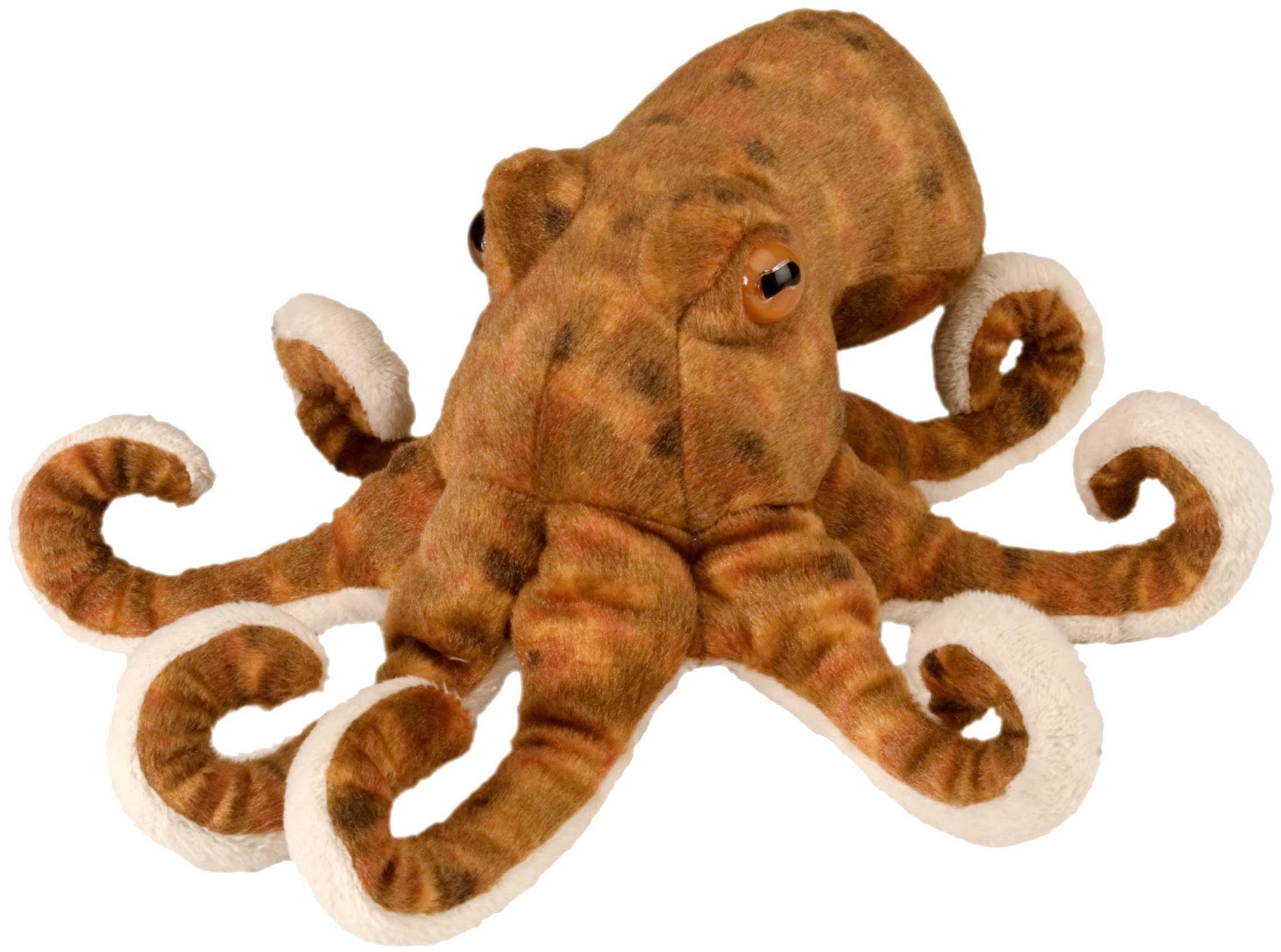 Wild Republic 10872 pluszowy Oktopus, Cuddlekiny, pluszowe zwierzątko, 20 cm