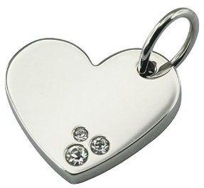 Młodzieżowa/dziecięca zawieszka magnetyczna 1177-1 serce z cyrkoniami swarovskiego