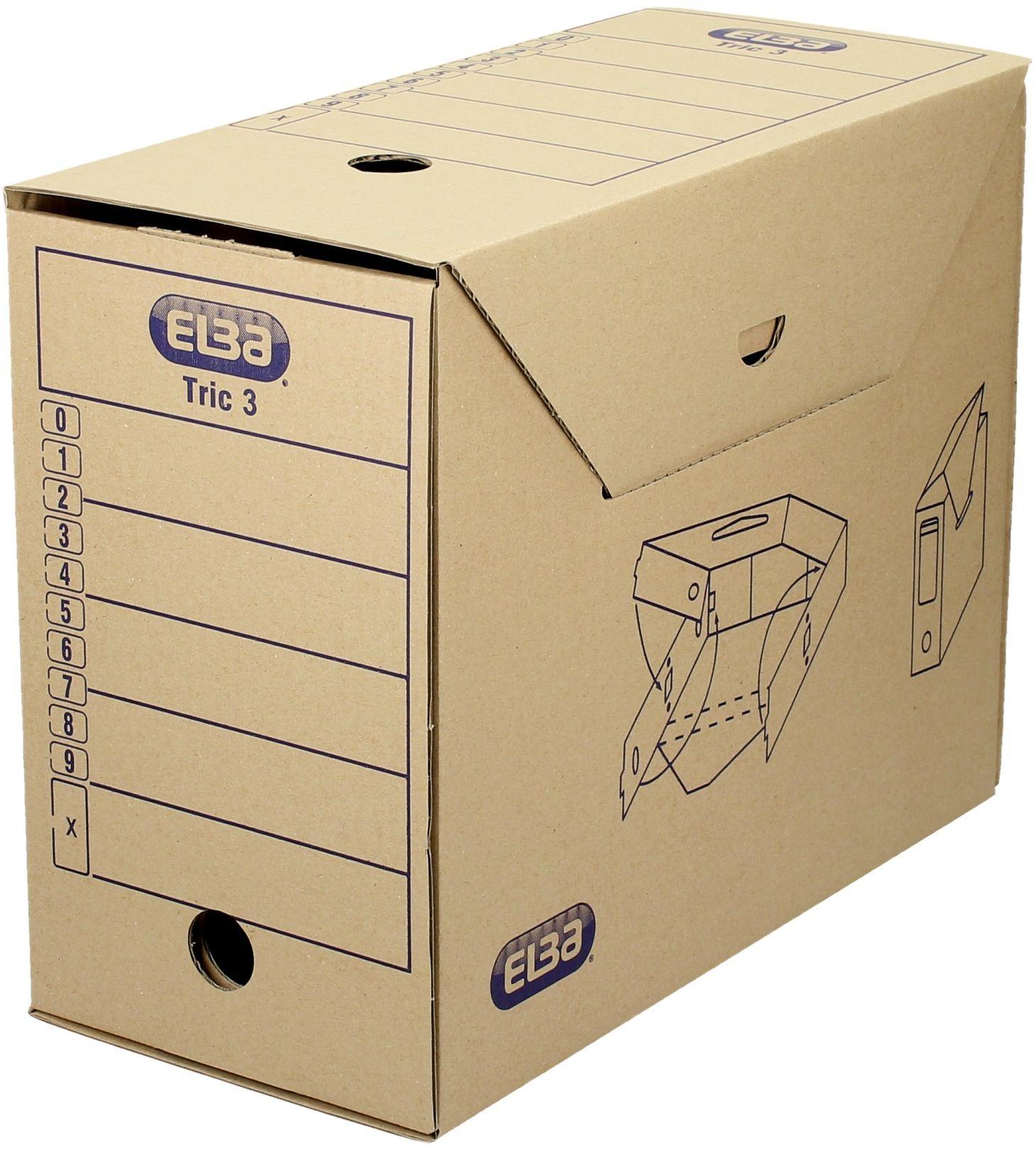 Pudło archiwizacyjne 265x155x340 brązowe Tric 3 Elba