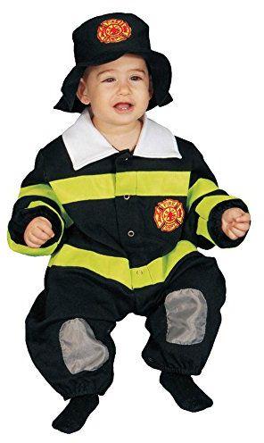 Dress up America 297-0-9 Little Baby Deluxe zestaw kostiumów strażackich 0-6 miesięcy (waga: 3,5-7 kg, wysokość: 43-61 cm)