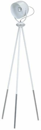 Emibig DOBSON LP1 WHITE 774/LP1 lampa podłogowa nowoczesna metal biała ruchomy klosz 1x60W E27 150cm