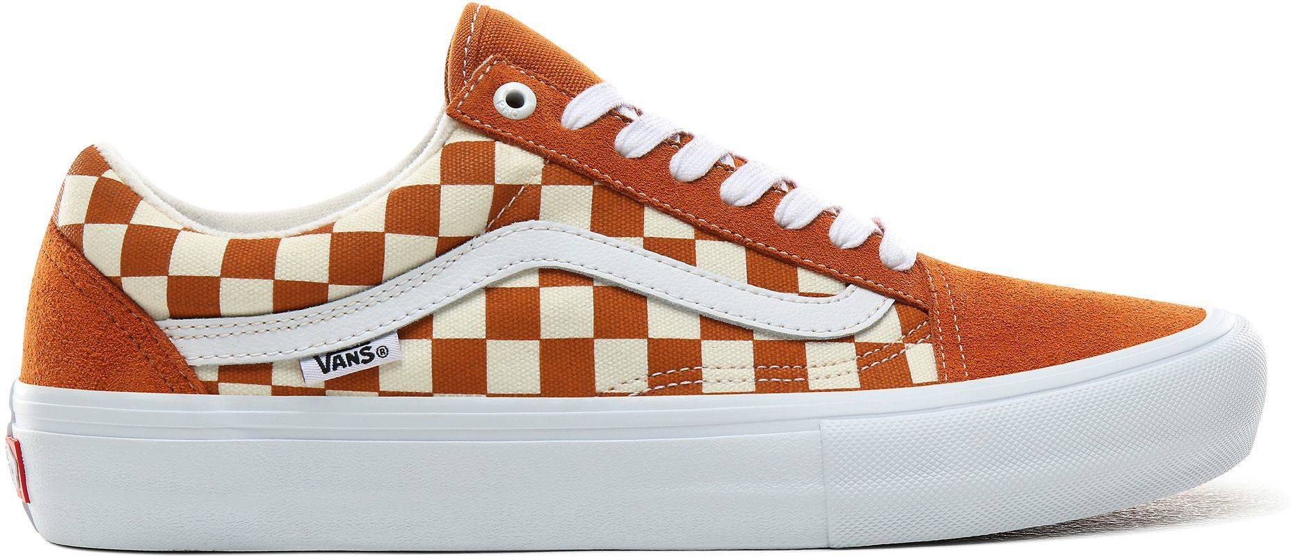 obuwie VANS OLD SKOOL PRO (CHECKERBOARD) Golden Oak