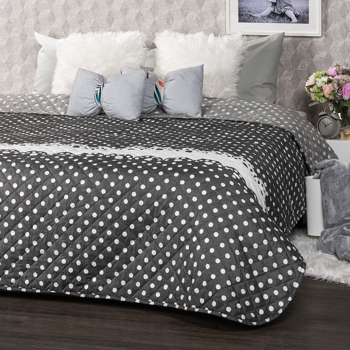 4Home Narzuta na łóżko Dots, 220 x 240 cm