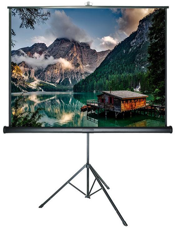 DELUXX Advanced 152 x 152 ekran na statywie bialy mat polaro
