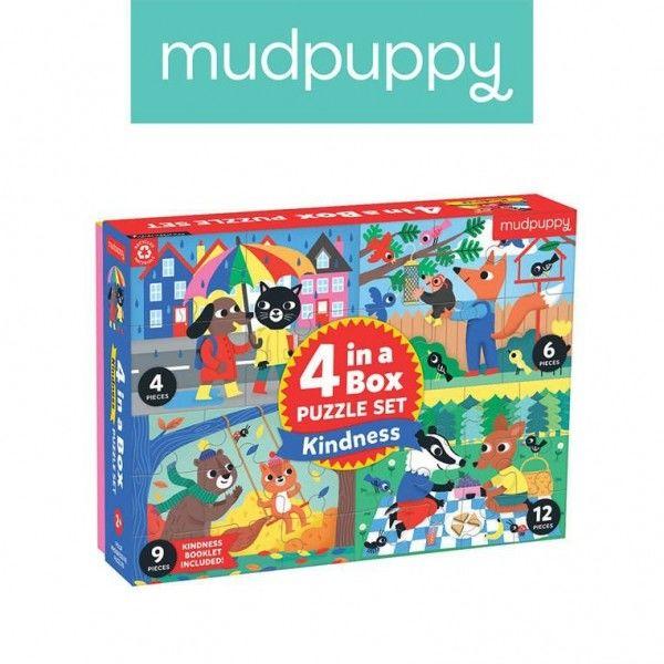 Mudpuppy Puzzle Progresywne życzliwość 4, 6, 9 i 12 Elementów 2+