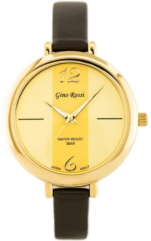 ZEGAREK G.Rossi - TOREZ (zg508e) gold/brown + BOX
