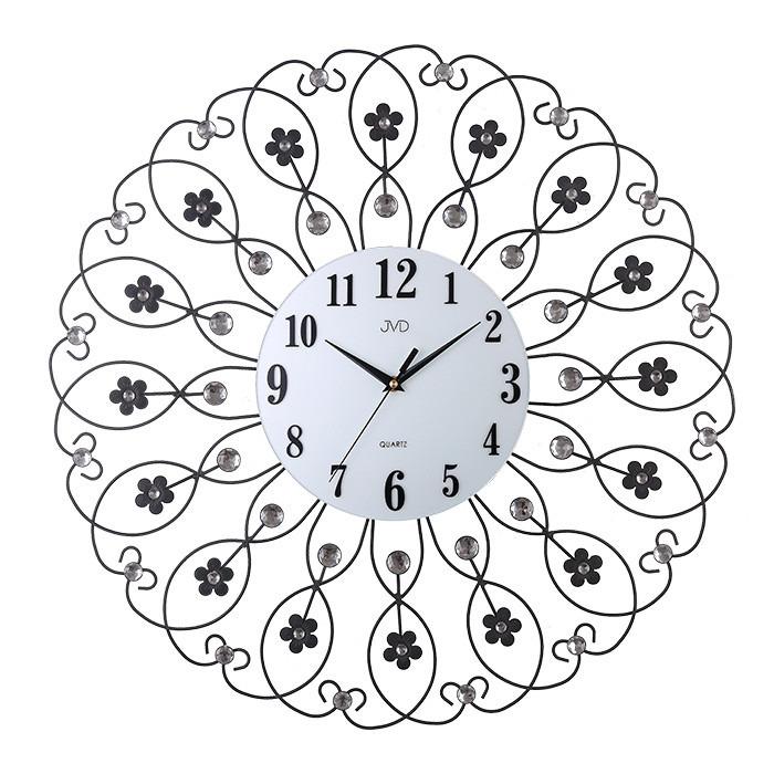 Zegar ścienny JVD HJ86 z kryształkami średnica 60 cm