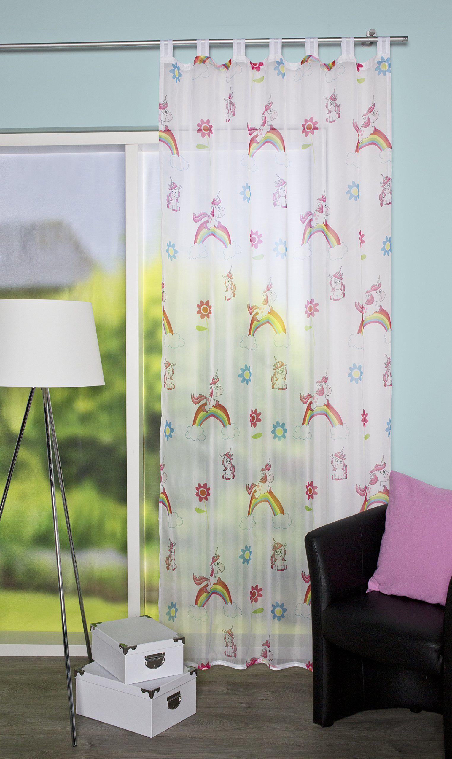 Home fashion zasłona ze szlufkami, tkanina, wielokolorowa, 245 x 140 cm