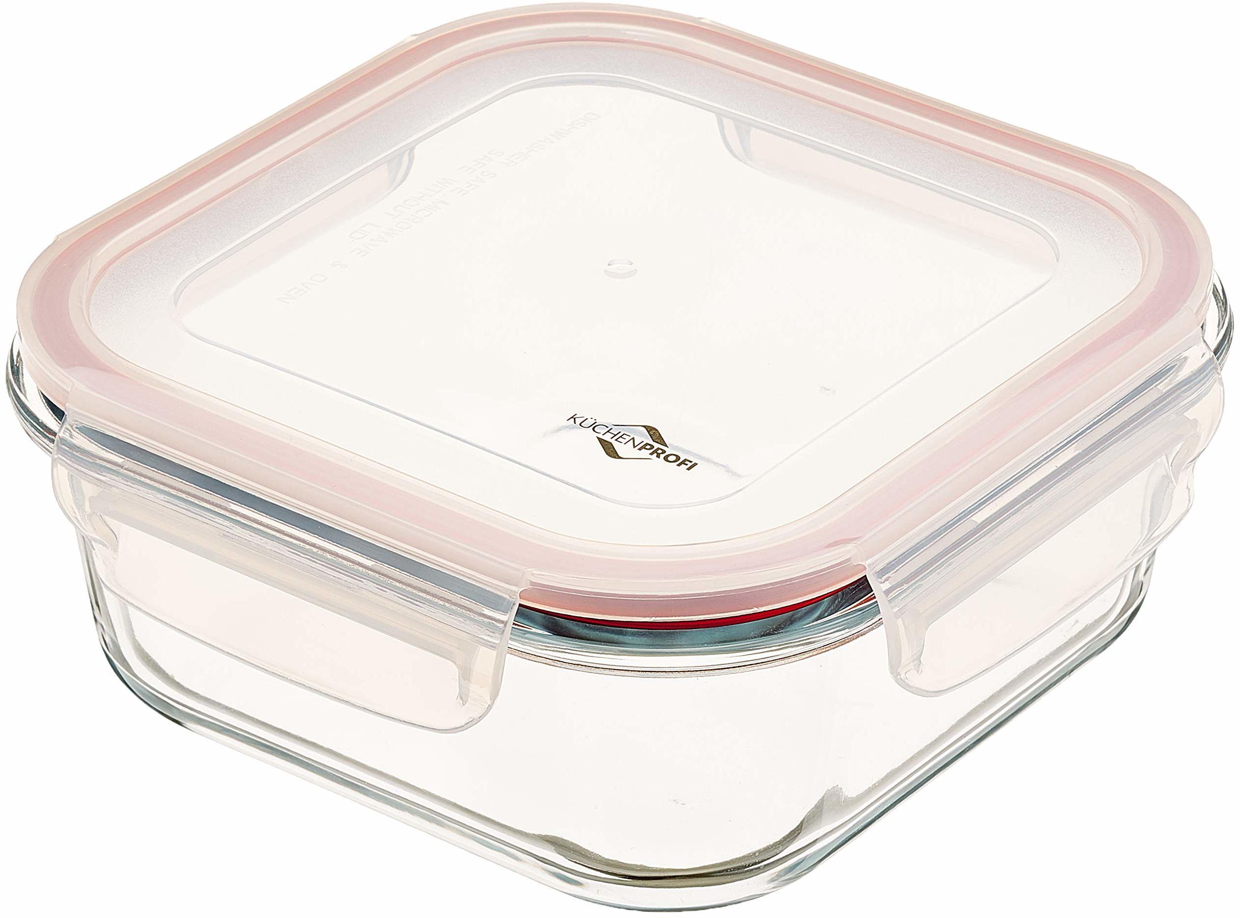 Küchenprofi Lunchbox-1001803518 pojemnik na lunch, szklany, przezroczysty, jeden rozmiar