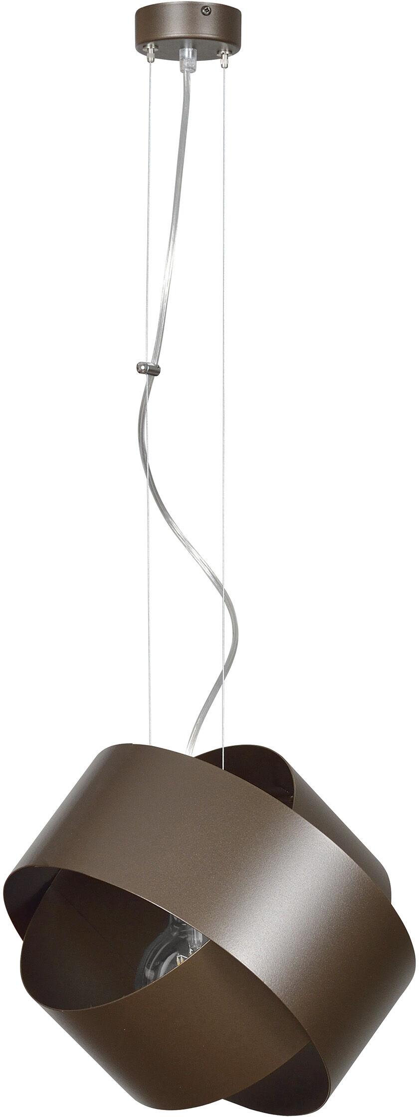 Emibig DROP WENGE 790/4 lampa wisząca brązowa nowoczesna metalowa regulowana design 1x60W E27 32cm