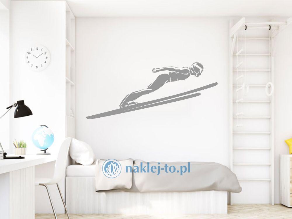 Skoczek narciarski naklejka naklejka na ścianę