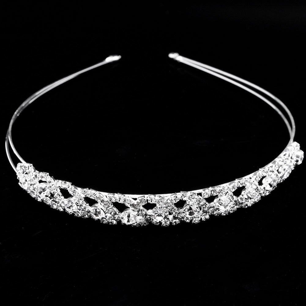Opaska do włosów ozdoba ślubna srebrna diadem