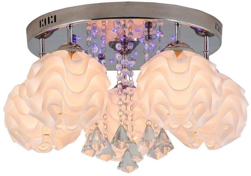 Light Prestige Sada 5 LP-119/5C plafon lampa sufitowa nowoczesna kryształki 5x40W E14 punktowe oświetlenie 18xLED 0,06W 40x38 cm