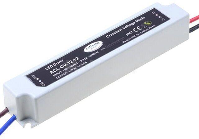 Zasilacz impulsowy do diod LED 12W 12VDC 1A 100 240VAC IP67