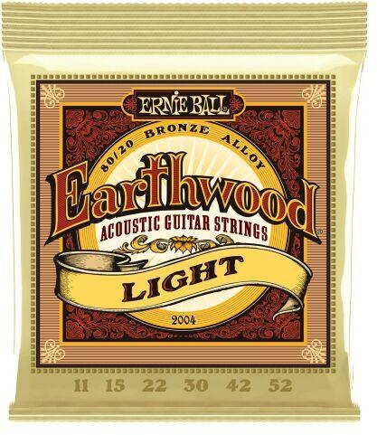 Ernie Ball 2004 Earthwood Light struny do gitary akustycznej 11-52