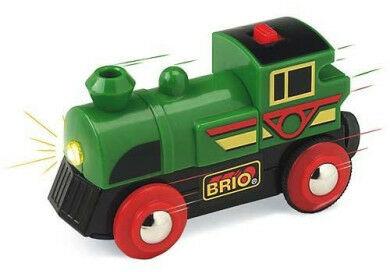BRIO - Brio World Lokomotywa na Baterie Zielona