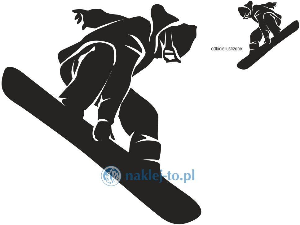 naklejka snowboard 1 naklejka na ścianę