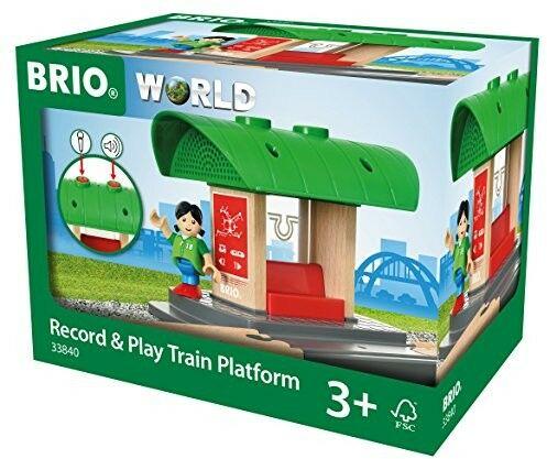 BRIO - Brio World Peron Kolejowy z Nagrywarką