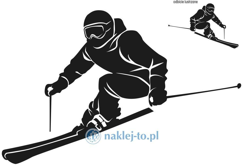 naklejka narciarz naklejka na ścianę