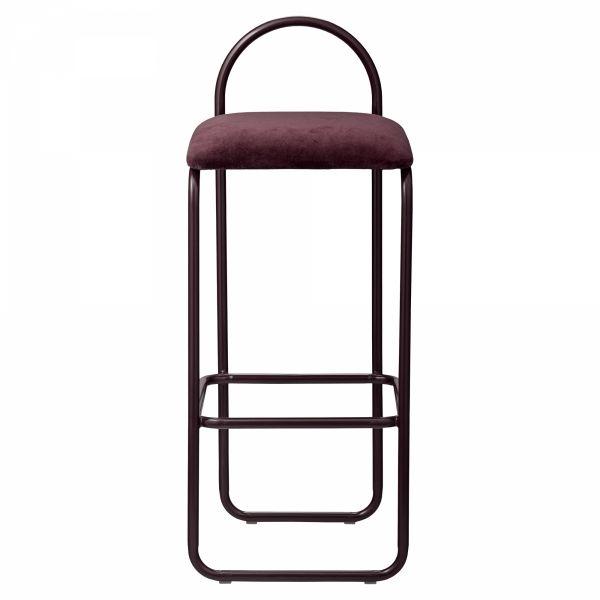AYTM - ANGUI Hoker - Krzesło Barowe 82,5 cm Bordowe