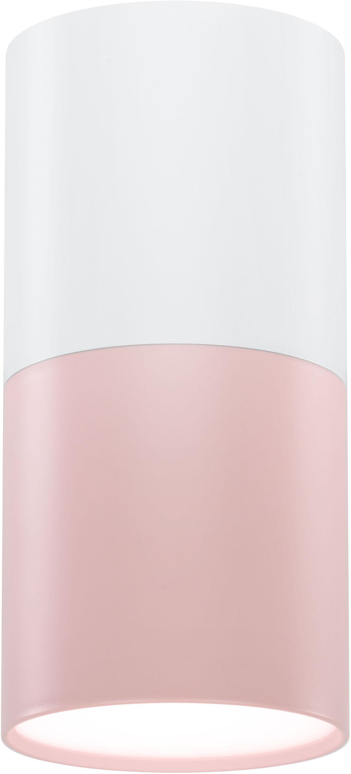 Candellux TUBA 2273662 oprawa stropowa natynkowa różowy + biały 1X50W GU10 13 cm