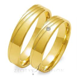 Obrączki ślubne Złoty Skorpion  wzór Au-O133