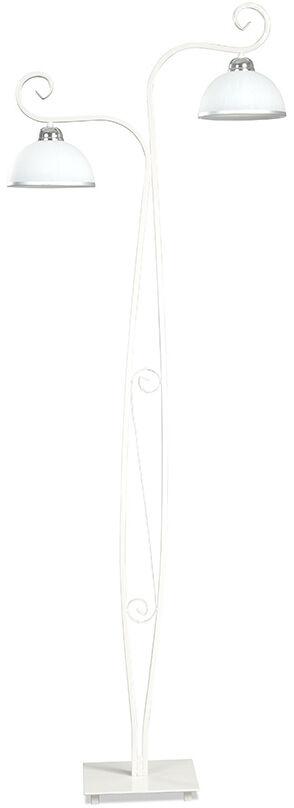 Emibig WIVARA LP2 WHITE 840/LP2 lampa podłogowa klasyczna szklane białe klosze E27 2x60W 160cm