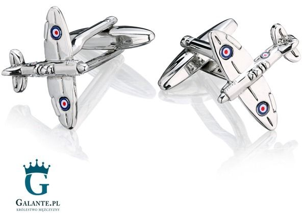 Spinki do mankietów samoloty raf spitfire sd-1149